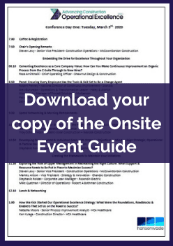 Onsite Agenda - Operational Excellence