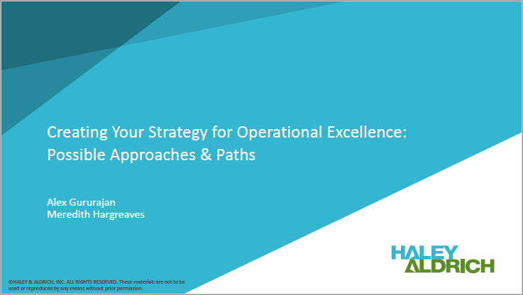 Creating a Strategy for Operational Excellence - Alex Gururajan